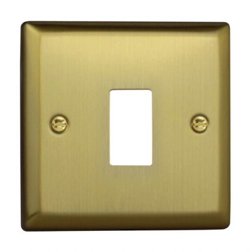 Varilight XYPGY1.BB Urban Brushed Brass 1 Gang PowerGrid Plate (Single Plate)